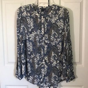 LuckyBrand paisley print top Size L